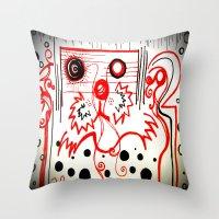 beard Throw Pillows featuring Beard by hARMONIEjoy