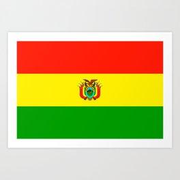 Flag of Bolivia Art Print