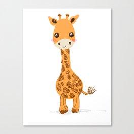 Cute giraffe nursery decor Canvas Print