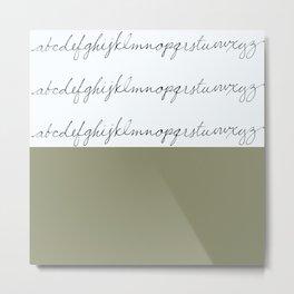 Alphabet-Khaki Metal Print