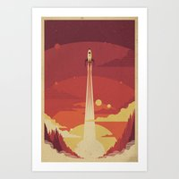 sky Art Prints featuring Atomic Sky by Danny Haas