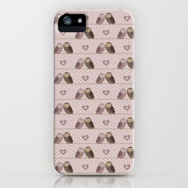 Owls in love (pink) iPhone Case