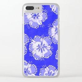 Dutch Lace Rose Clear iPhone Case