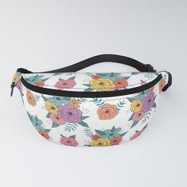 Gouache floral Fanny Pack