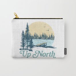 Vintage Up North Lake Carry-All Pouch