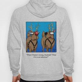 Reindeer Nose Humor Hoody