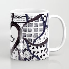Free Hand Drawn Love Pattern Coffee Mug