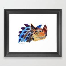 Horned Carnosaur Framed Art Print