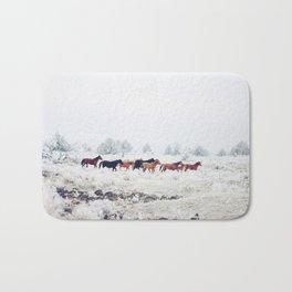 Winter Horse Herd Bath Mat
