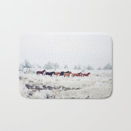 Winter Horse Herd Bath Mat
