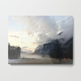 Yosemite Valley Mist Metal Print