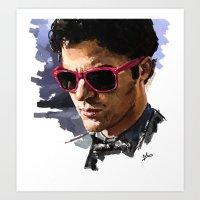 darren criss Art Prints featuring Darren by Monika Gross