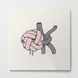 Ok to Knot be Ok Metal Print