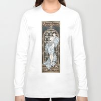 mucha Long Sleeve T-shirts featuring A Scandal in Belgravia - Mucha Style by Alessia Pelonzi