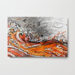 Orange RipTide Metal Print