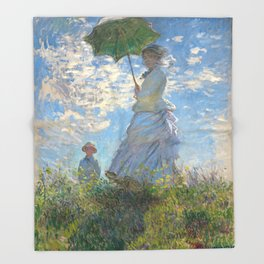 Monet - Madame Monet and Her Son - 1875 Throw Blanket