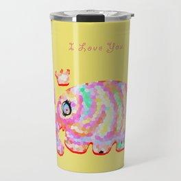 Colorful Elephant Travel Mug
