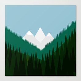 Pacific Northwest Mountains Canvas Print