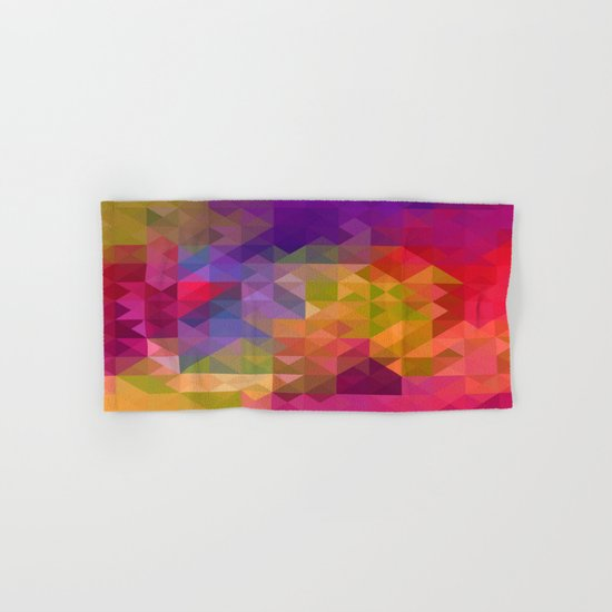 Bright Colorful Geometric Abstract Hand & Bath Towel