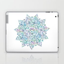 Mermaid Dreams Mandala on White Laptop & iPad Skin