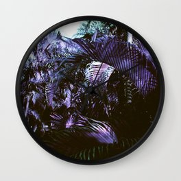 Purple Palms Wall Clock