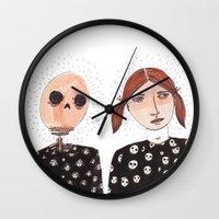 tiki Wall Clocks featuring Tiki by Alejandra Hernandez