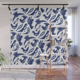 Feather tribe Wall Mural