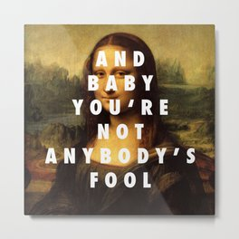Mona Lisa Baby Metal Print