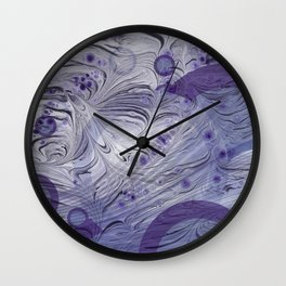 Lavender Abstract Wall Clock