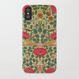 William Morris Roses Floral Textile Pattern iPhone Case