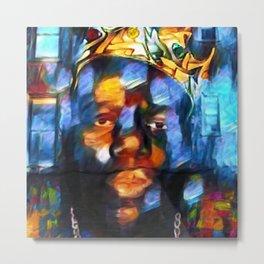 "African American 'King of New York,' Bedford–Stuyvesant ""Biggie"" Mural Portrait Metal Print"