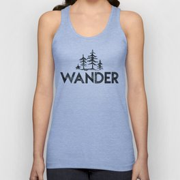 WANDER Forest Trees Black and White Unisex Tank Top