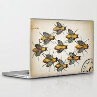 medieval Laptop & iPad Skins featuring Medieval Swarm by Vintage Avenue