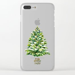 Pine Cone Christmas Tree Clear iPhone Case