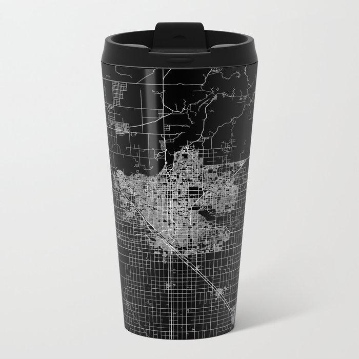 Fresno map Metal Travel Mug