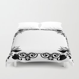 Black and white abstract pattern . Duvet Cover