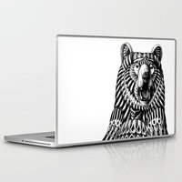bioworkz Laptop & iPad Skins featuring Ornate Grizzly Bear by BIOWORKZ