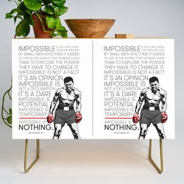 Ali 'The Champ' Boxing Credenza