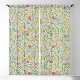 Soft Lovely Flowers│Floral Surface Pattern Blackout Curtain