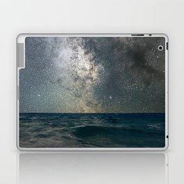 Milky Way Over The Sea Laptop & iPad Skin