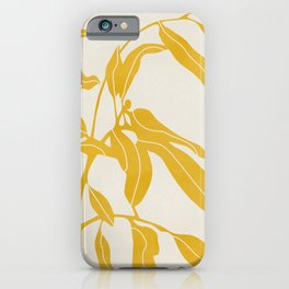Golden Yellow Leaves #art print#society6 iPhone Case