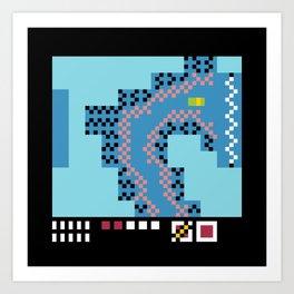 Minimal NES: TMNT Art Print