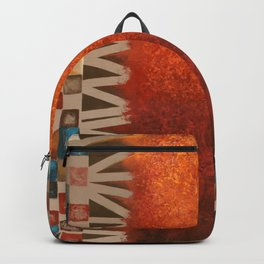 Orange squares Backpack