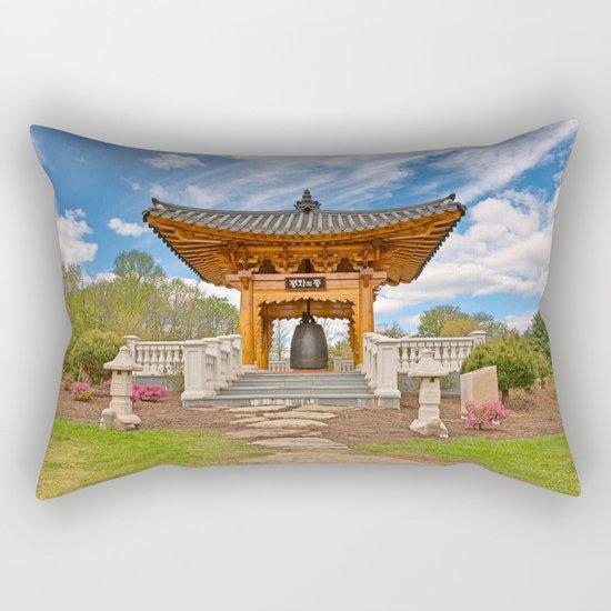 Korean Bell Garden Rectangular Pillow