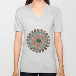 Boho Patchwork-Vintage colors Unisex V-Neck