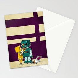 Robots on Friendship Stationery Cards