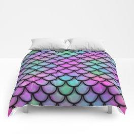Rainbow Mermaid Scales Comforters