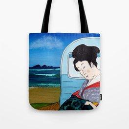 Mrs Hokusai Goes To The Amenities Block Tote Bag