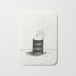 Barrel Fire Bath Mat