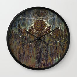 Nebulous Portal Emergence (Electric Gateway) Wall Clock